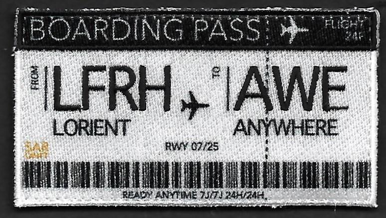 24 F - Boarding pass - LFRH to AWE - Lorient to Anywhere