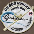25 F - 60000 heures de gardian depuis 1984 - falcon 200 -