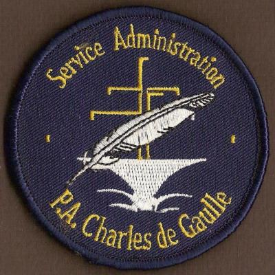 PA Charles de Gaulle - Service Administration